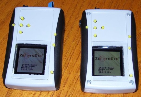 Main Screen - The first screen that appears when the ZephyrEye is turned on.