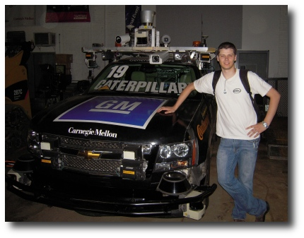 Me standing next to Boss, winner of the 2007 DARPA Urban Challenge